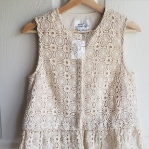 Anthropologie Tops - NWOT Atelier Camille Ruffled Lace Shell Size Small